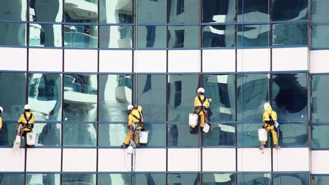 tower glass cleaning