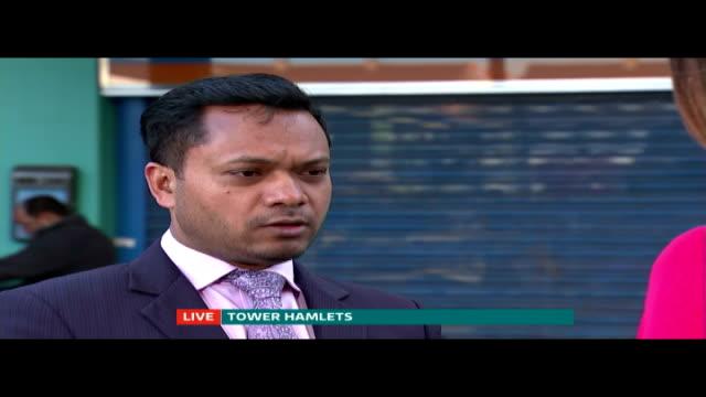 Mayor Lutfur Rahman removed from office ENGLAND London Tower Hamlets EXT Oliur Rahman LIVE interview SOT Haven't spoken to Lutfur Rahman today / he's...