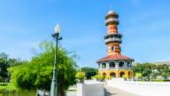 Tower in bang pa-in palace Ayutthaya thailand
