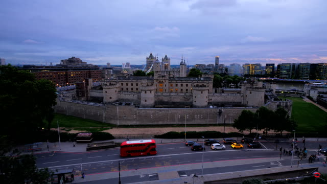 Tower of London high view early evening