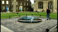 new memorial unveiled Reporter to camera Glass cushion on sculpture Names of those killed at Tower inscribed on sculpture including Anne Boleyn and...