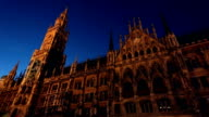 Town hall in Munich at sunset, Time Lapse