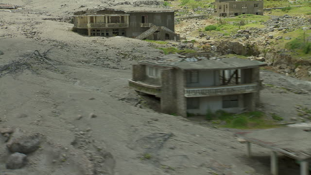 Town Ruined By Montserrat Volcano