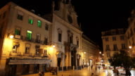WS Town square at night / Lisbon, Portugal