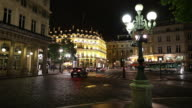WS Town square at night / Paris, France