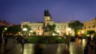 Town Square of La Paz at night, Bolivia