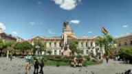 Town Square of La Paz, Bolivia