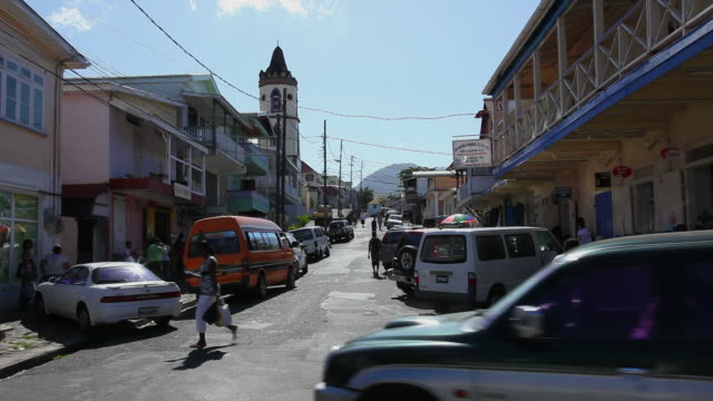 WS Town traffic and automotive pollution / Roseau, Dominica