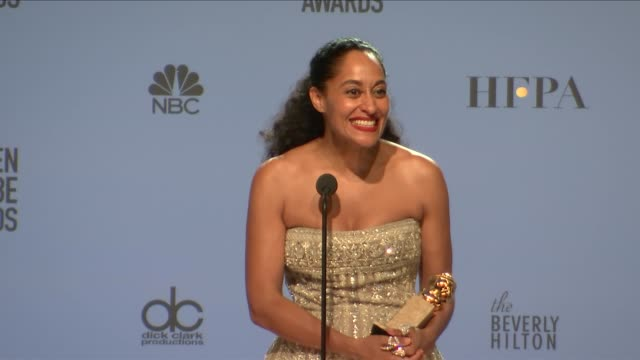 SPEECH Tracee Ellis Ross at 74th Annual Golden Globe Awards Press Room at The Beverly Hilton Hotel on January 08 2017 in Beverly Hills California