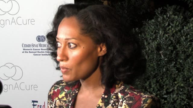 Tracee Ellis Ross at the Fred Segal and the CedarsSinai Medical Center Women's Cancer Research Institute Host Design A Cure at a private residence in...
