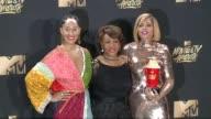 Tracee Ellis Ross Maxine Walters Taraji P Henson at 2017 MTV Movie And TV Awards Press Room in Los Angeles CA