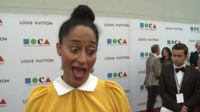 INTERVIEW Tracee Ellis Ross on Art as Inspiration at MOCA's 35th Anniversary Gala Presented By Louis Vuitton At The Geffen Contemporary At MOCA on...