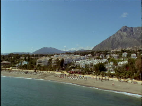 Track along beach front Marbella Spain