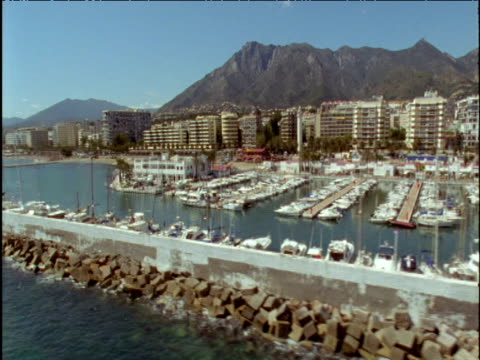 Track along harbour and coast Marbella Spain
