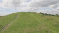Track around Bronze Age burial mound