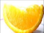 Track around slice of orange