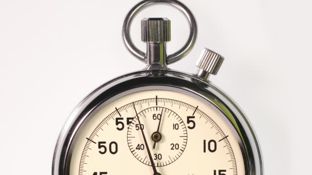 Track down over a stop watch starting at zero.