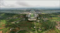 Track forward from helicopter approaching Brasilia Available in HD.