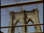 Track forwards from car along Brooklyn Bridge