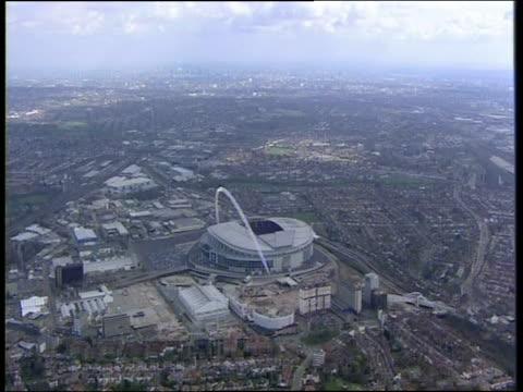 Track high above Wembley Stadium London
