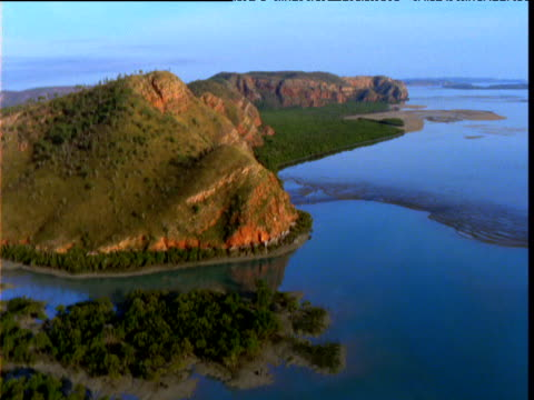 Track over coast and sea, Buccaneer Archipelago, Western Australia