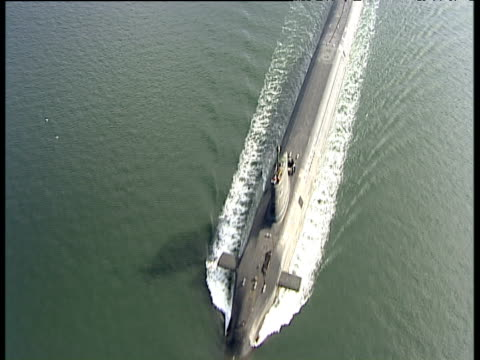 Track over HMS Vanguard (Trident Submarine) Firth of Clyde