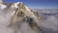 Track over mountain peaks and cloud, Himalaya, Nepal. Available in HD.