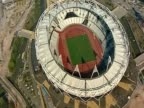 Track over the 2012 Olympic stadium London