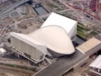 Track over the aquatic centre for the 2012 Olympic Games London