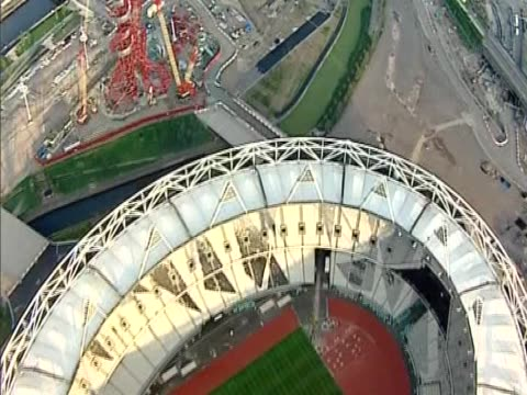Track over the Olympic park hosting the 2012 Games London