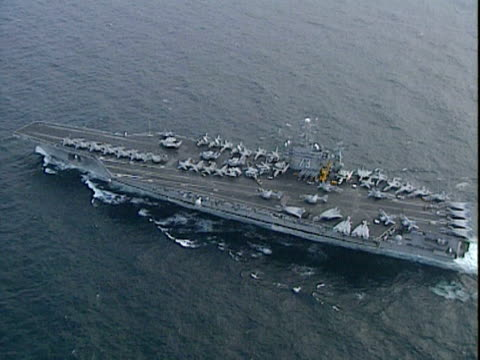 Track over USS George Washington at sea 1999