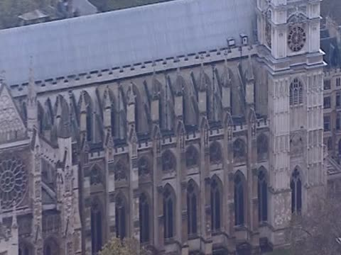 Track over Westminster Abbey