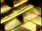 Track past piles of gold bars