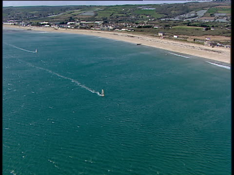 Track past windsurfers in Mount's Bay Cornwall