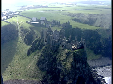 Track right around Dunluce Castle ruins Northern Ireland