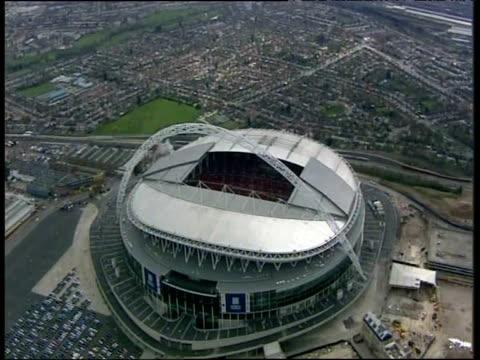 Track right around Wembley Stadium London