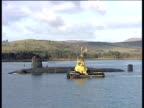 Track right past HMS Vanguard (Trident Submarine) and pilot boats Firth of Clyde