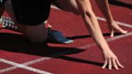 Track Runner Ready to Start