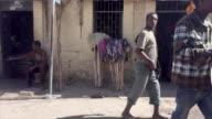 Tracking along city street in Dire Dawa, Ethiopia