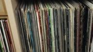 Tracking shot along vinyl top