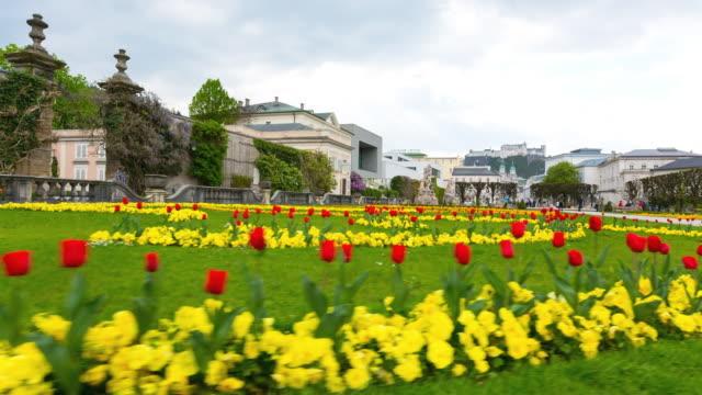 Tracking shot, Mirabell Gardens Salzburg