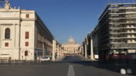 Tracking towards The Vatican, Saint Peters Basilica, Rome