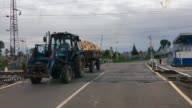 Tractor at the crossing