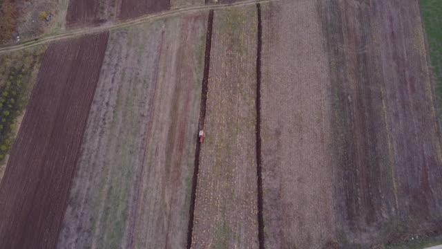 Tractor plowing 4k