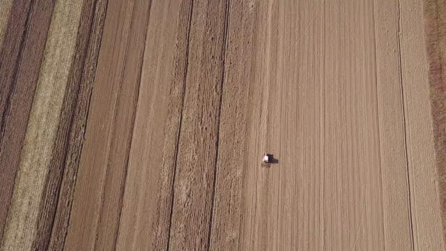 Tractor plowing season 4k
