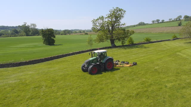 Tractor Topping Field, Aerial View