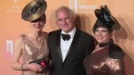 Tracy Jakewith Brewster Kahle and Alexis Rossi at The 21st Annual Webby Awards Arrivals at Cipriani Wall Street on May 15 2017 in New York City
