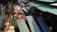 Traders and buyers on boats at Damnoen Saduak Floating Markets, Bangkok, Thailand, Southeast Asia, Asia