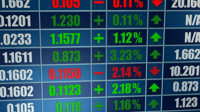 Trading Board, Stock Market, Ticker
