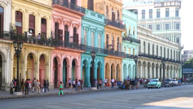 Traditional buildings in Old Havana, Havana, Cuba